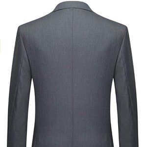 Notched Lapel Solid Color Business Daily Blazer
